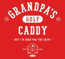 Grandpa's Golf Caddy [White Mono] Baby Tee