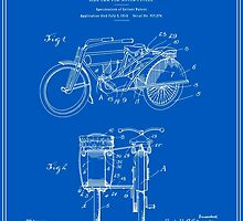 Motorcycle Sidecar Patent 1912 - Blueprint by FinlayMcNevin