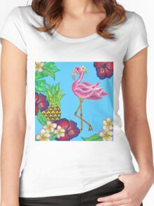 tropical island Women's Fitted Scoop T-Shirt