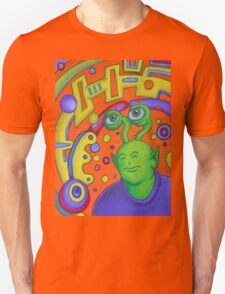 Portrait of Rusty the Alien Unisex T-Shirt