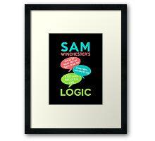 SAM WINCHESTER'S LOGIC Framed Print