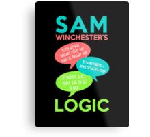SAM WINCHESTER'S LOGIC Metal Print