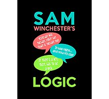 SAM WINCHESTER'S LOGIC Photographic Print