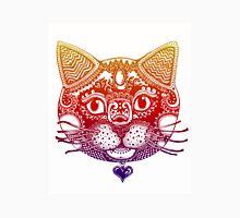 Vibrant Cat Zentangle Design Unisex T-Shirt