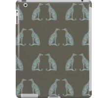 Double Greyhounds - Olive/Aqua iPad Case/Skin