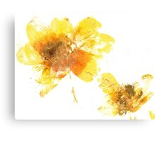 Yellow Flower Press Canvas Print
