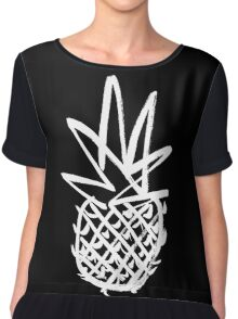 White pineapple  Chiffon Top