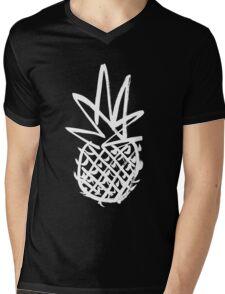 White pineapple  Mens V-Neck T-Shirt