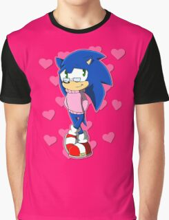 Cute Sonic Graphic T-Shirt