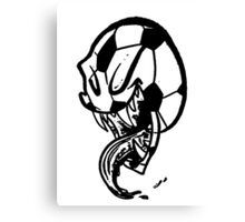 Soccer Monster Black and White Canvas Print