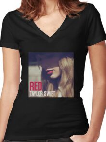 Red Album Women's Fitted V-Neck T-Shirt