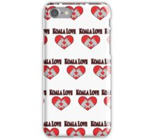 Koala Love Pattern  iPhone Case/Skin
