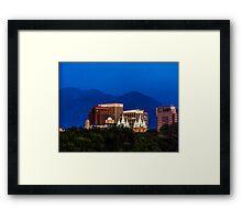 SLC Skyline LDS Temple Framed Print