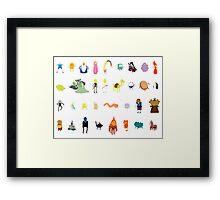 Minimalist Adventure Time Characters Framed Print
