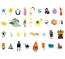 Minimalist Adventure Time Characters Photographic Print