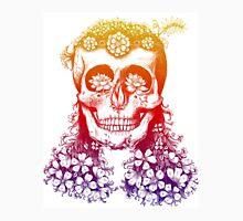 Floral Rainbow Skull Unisex T-Shirt