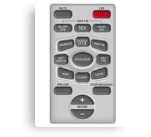 Rude Remote Control Canvas Print