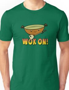 Wok On Funny Chinese Cooking Pun Unisex T-Shirt