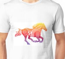Rainbow Tribal Horse Unisex T-Shirt