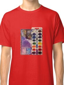water color pallet no background Classic T-Shirt