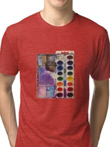 water color pallet no background Tri-blend T-Shirt