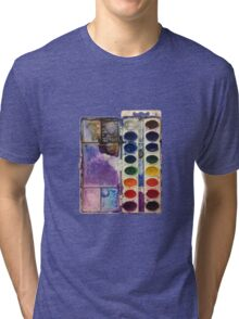 water color pallet no background Tri-blend T-Shirt