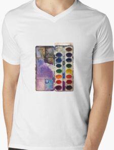 water color pallet no background Mens V-Neck T-Shirt