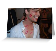 Matthew Gray Gubler Kisses Greeting Card