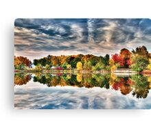 Fall Colors on the Pond Canvas Print