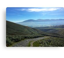 Misty Morning in the Lake District National Park, UK Canvas Print
