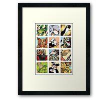 Animal Musicians Montage Framed Print