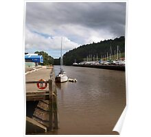 A Boat on the River Dart Poster