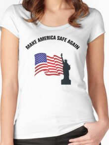 Make America Safe Again Women's Fitted Scoop T-Shirt