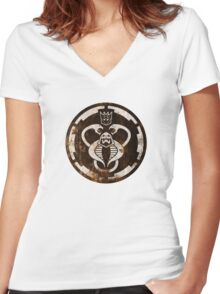 The Ultimate 80's Evil (distressed) Women's Fitted V-Neck T-Shirt
