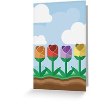 Flowers in a Row Greeting Card