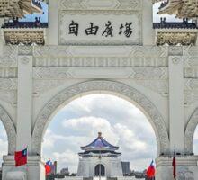 Chiang Kai-Shek Memorial Plaza, Taipei, Taiwan Sticker