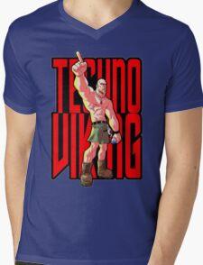 Techno Viking Mens V-Neck T-Shirt