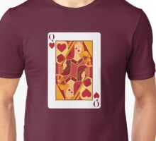 Queen of Hearts Playing Card Unisex T-Shirt