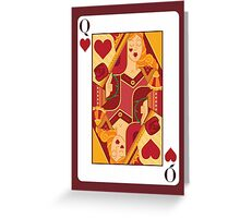 Queen of Hearts Playing Card Greeting Card