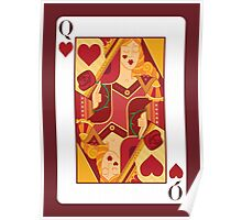 Queen of Hearts Playing Card Poster