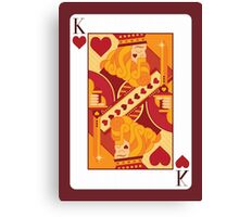 King of Hearts Playing Card Canvas Print