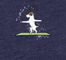 Jack Style - Jack Russell Terriers Doing Yoga on Your Stuff Tri-blend T-Shirt