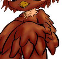 hoirned owl baby Sticker