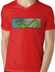 Praying Mantis Mens V-Neck T-Shirt