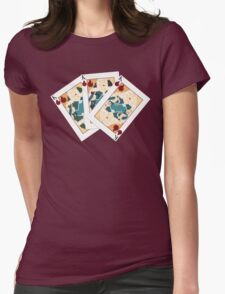 Khaleesi Playing Card Spread Womens Fitted T-Shirt