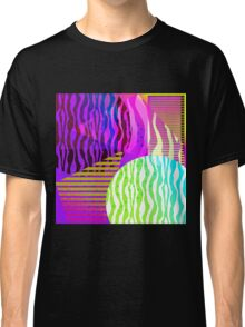 New Chaotic Order Retro Geometric Gradient 80's Design Classic T-Shirt