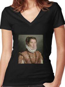 Honey booboo Women's Fitted V-Neck T-Shirt