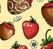 Chocolate Covered Strawberry Pattern Sticker