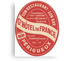 Hotel de France in Perigeux  Canvas Print