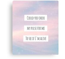 """Sleeping With Sirens - """"Alone"""" Canvas Print"""